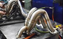 Here are the completed headers with wastegate tubes, finished just in time for shipment to the customer. With a perfect matchup to the temporary weld fixture, and meeting all customer specs, these headers are ready for an engine.<br><p><br></p>