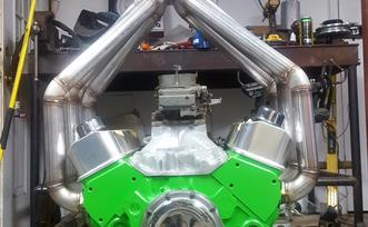 Evolution Fabrication 8-1 Stainless Derby Headers